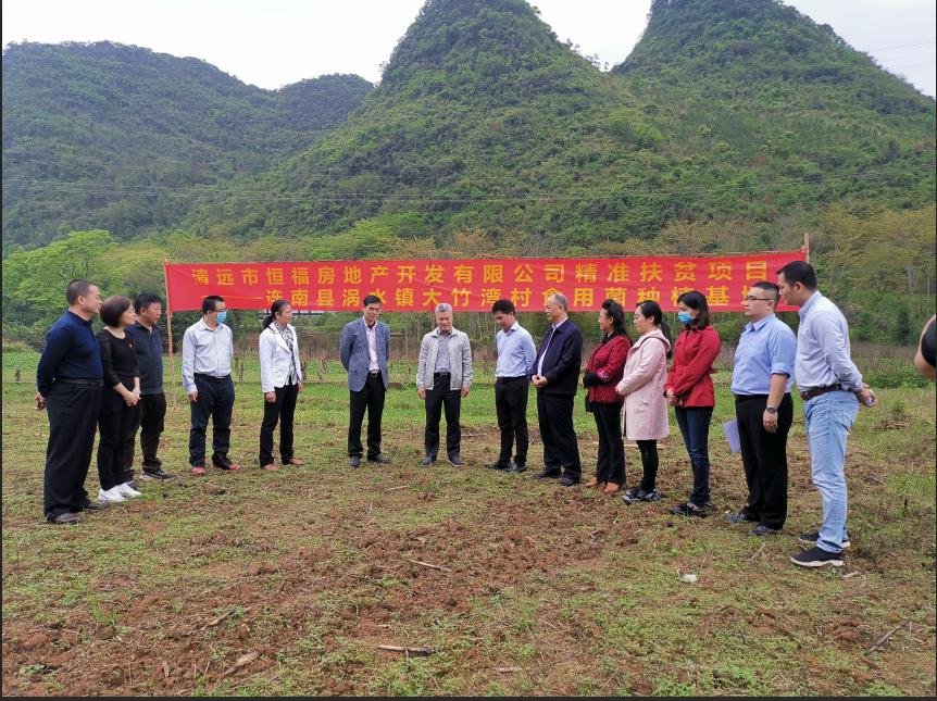 3月25日,市委常委、统战部部长刘汉球到食用菌基地调研